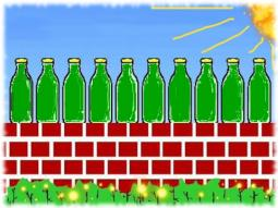 Ten green bottles